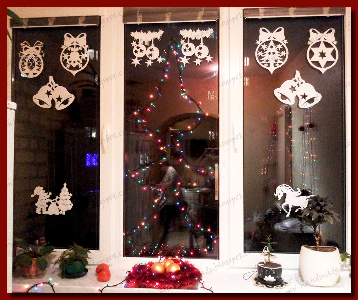 Шаблоны на окна к новому году