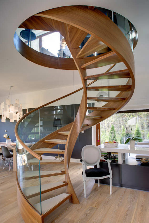 Best interior design house - Modern interior design with spiral stairs contemporary spiral staircase design ...