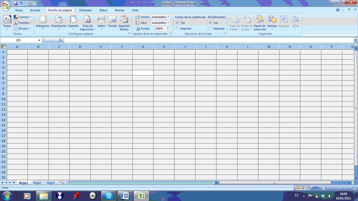 Hojas De Trabajo Excel
