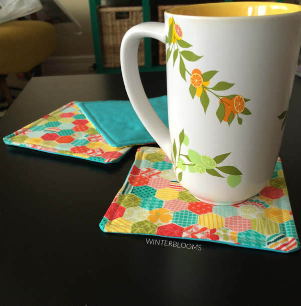 do it yourself quilt drink coasters