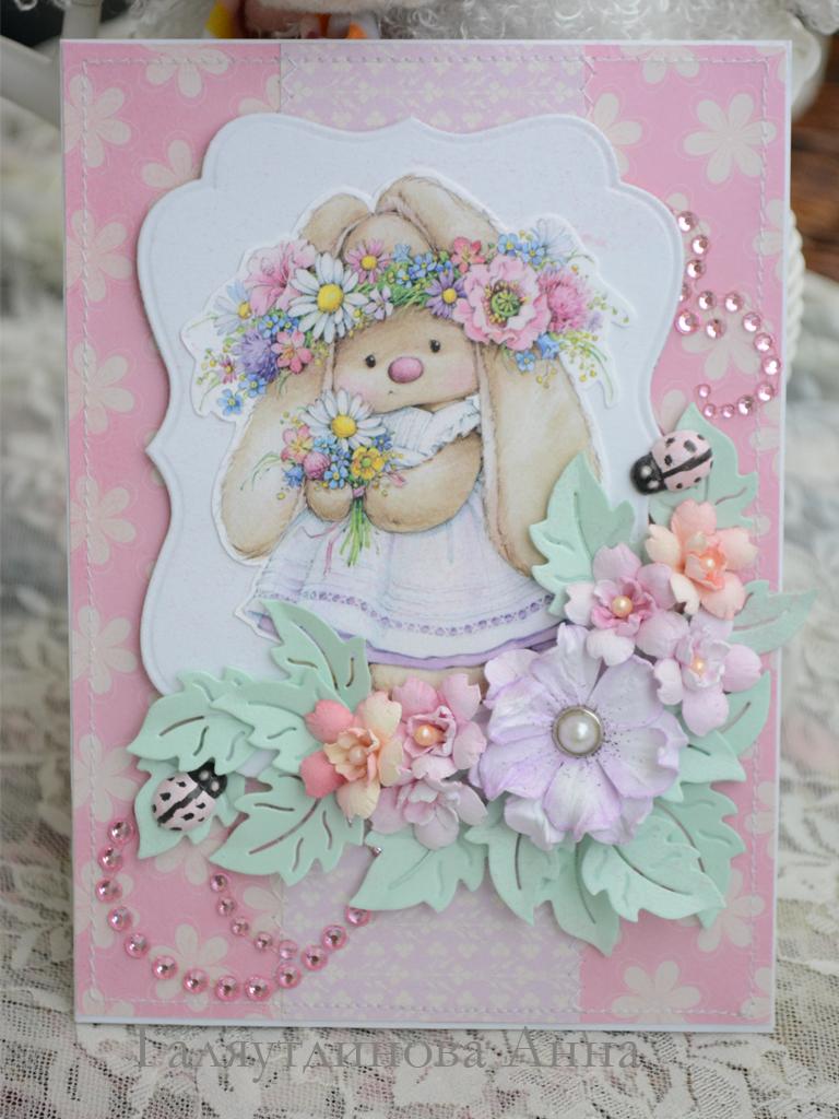 Детская открытка для бабушки на день рождения