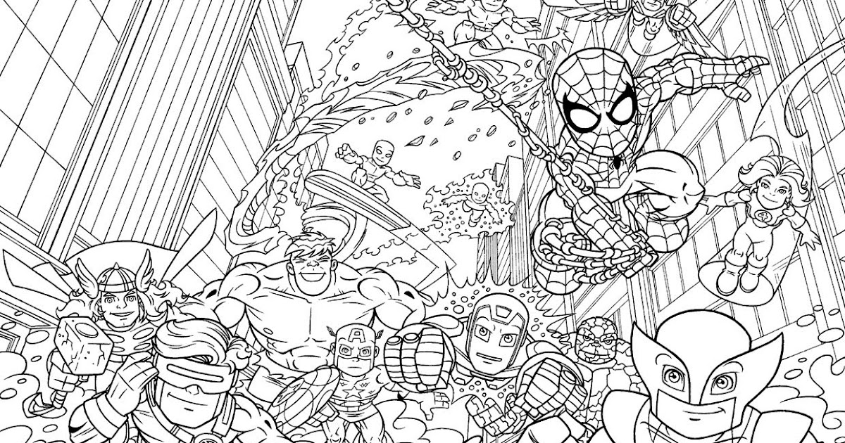 Marvel Superhero Coloring Pages - Superhero Coloring Pages