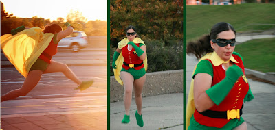 Action shots of my new Robin costume!!