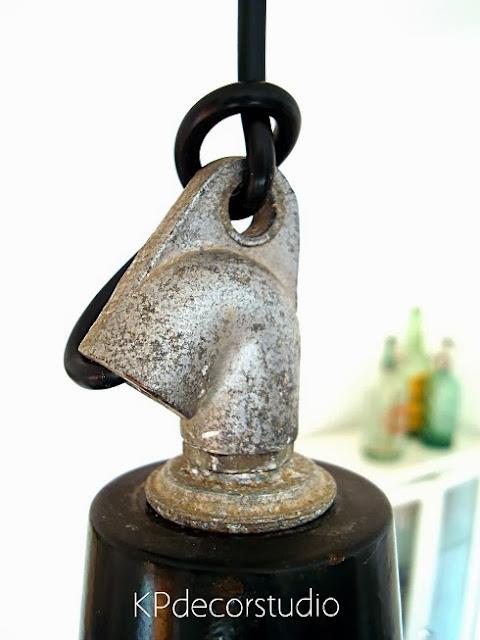 Lámparas antiguas industriales de fábrica tipo sifon frances