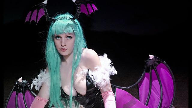 morrigan big breast cosplay