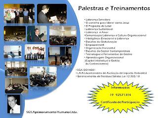 PALESTRAS TREINAMENTOS