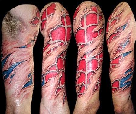 Tatuaje superheroe Spiderman, http://distopiamod.blogspot.com