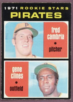 Fred Cambria (and Gene Clines) 1971 baseball card