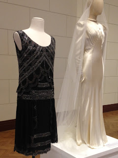 1920s flapper dress and 1930s wedding dress at David Jones 175th birthday