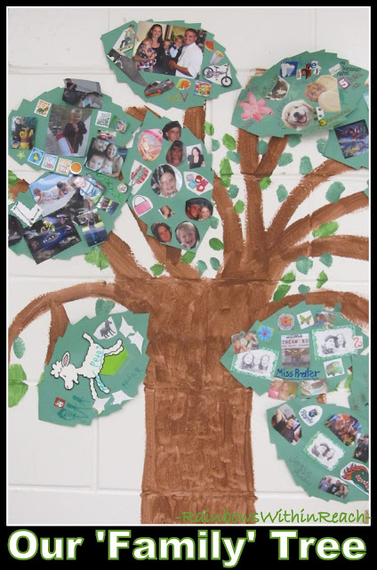 """Our Family Tree"" Painted Mural in Elementary School"