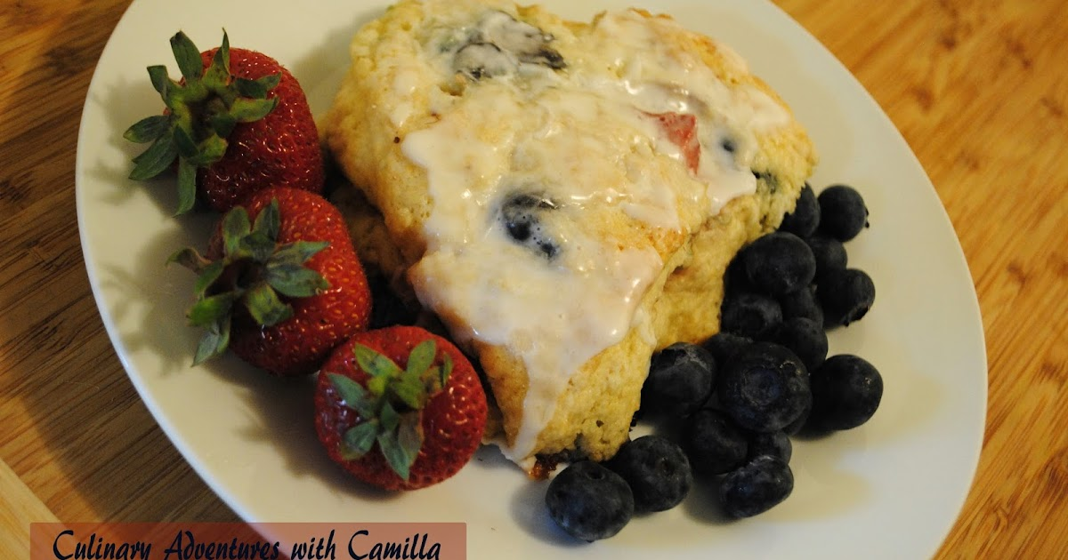 Culinary Adventures with Camilla: Red, White & Blue Scones