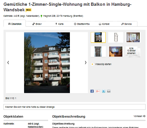 Hamburg single wohnung