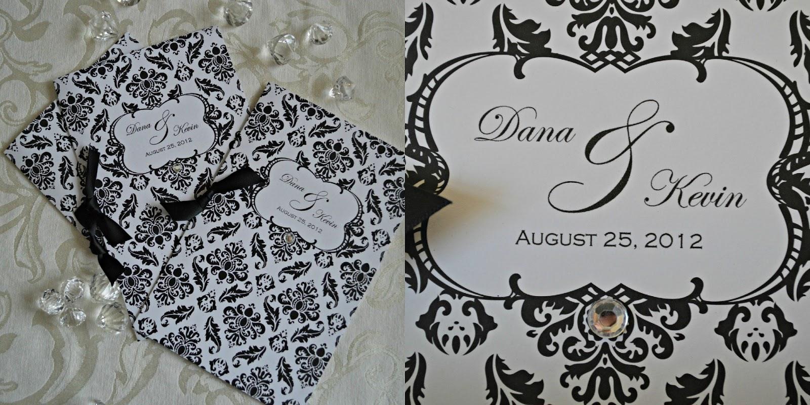 Inspired I Dos: Damask Wedding Programs for Catholic Wedding Mass