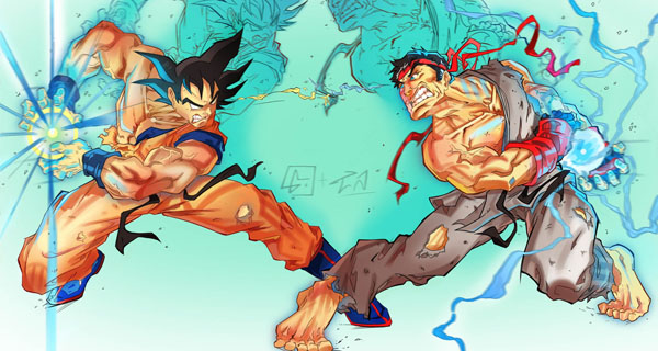Goku vs Street Fighter