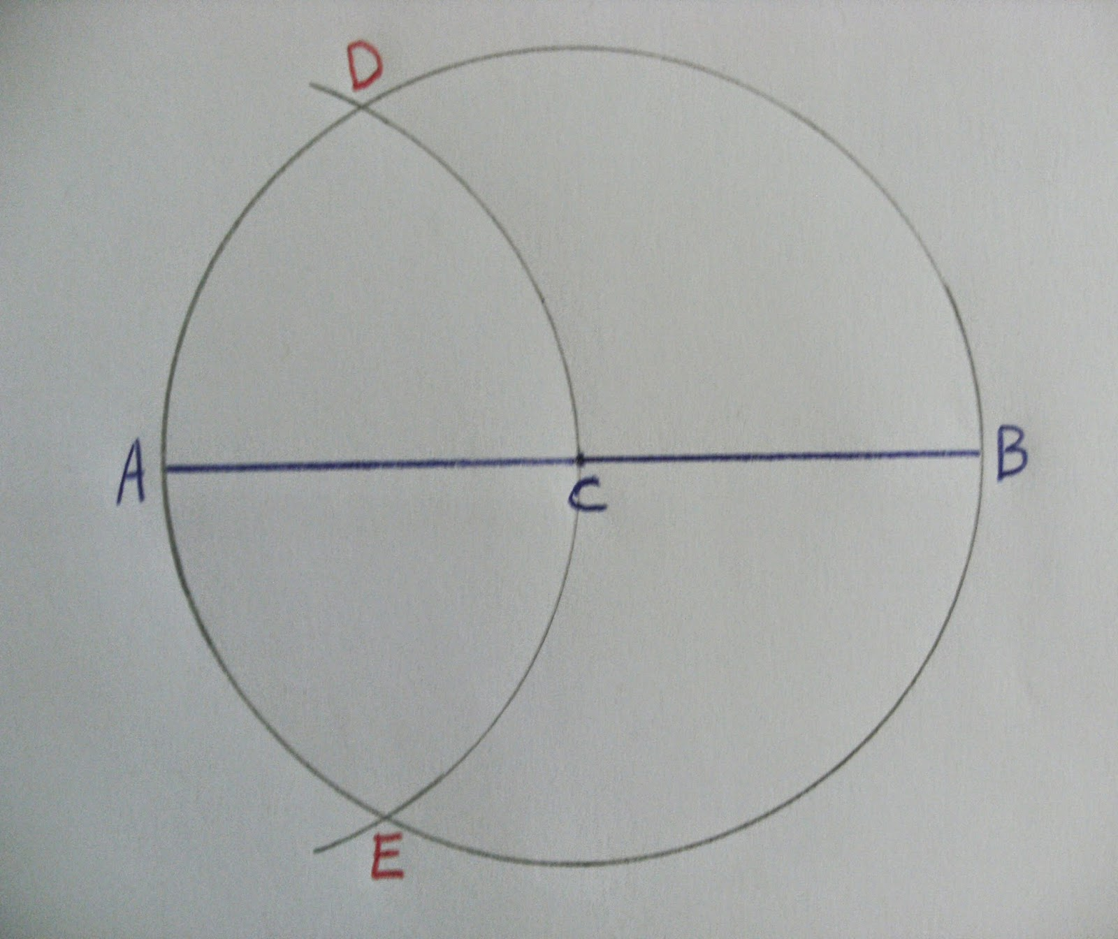 how to draw hexagon in a circle
