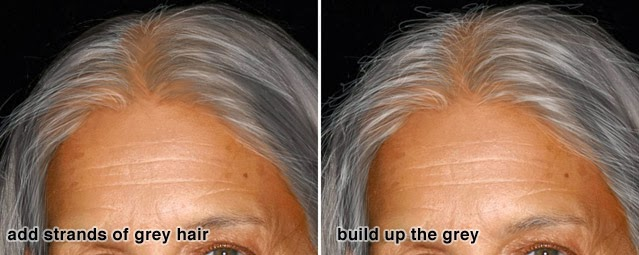 Langkah 11: Menambahkan bagian rambut yang hilang