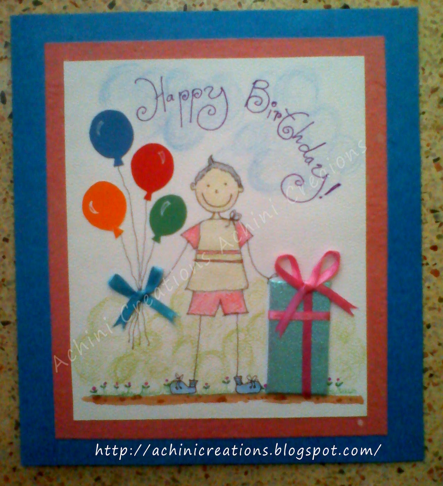 Achini Creations Handmade Greeting Cards Birthday Card For A Kid