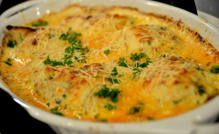 Herb Seafood Crepe Casserole Recipe