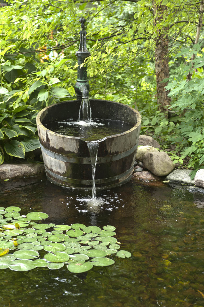 Aquascape your landscape designing your dream pond for Small garden pond with fountain