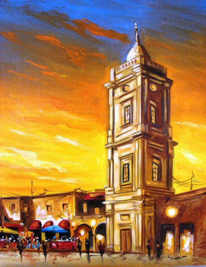 برج الساعة بمدينة طرابلس القديمة