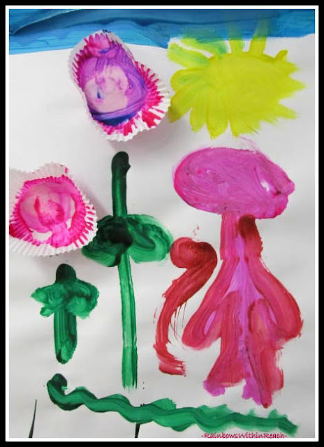 photo of: Child's Painting for Mother's Day at RainbowWithinReach