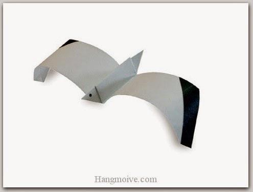 Cách gấp, xếp con chim hải âu bằng giấy origami - Video hướng dẫn xếp hình Động vật - How to fold a SeaGull