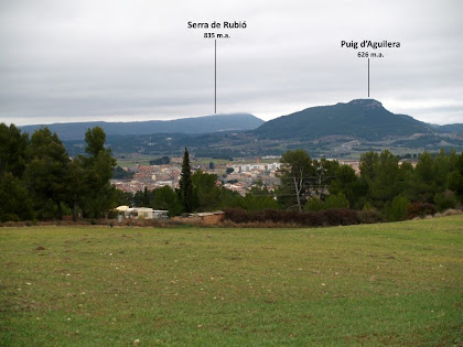 Vistes de Vilanova del Camí i del Puig d'Aguilera des de la zona propera a Can Titó