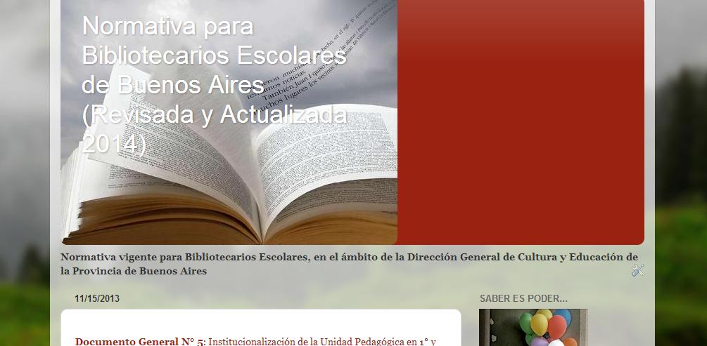 Blog de Normativa Bibliotecas Escolares