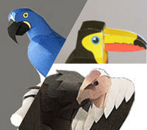 http://comohacermaquetas.blogspot.com/2014/08/aves-de-papel-para-armar.html