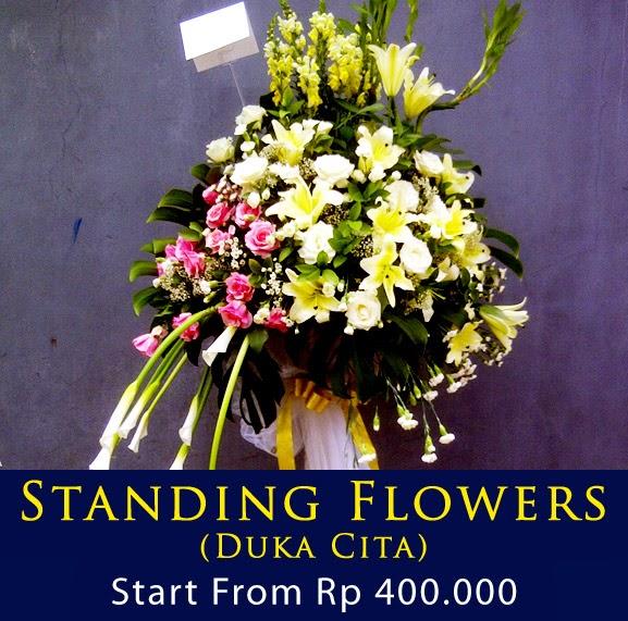 standing bunga ucapan duka cita