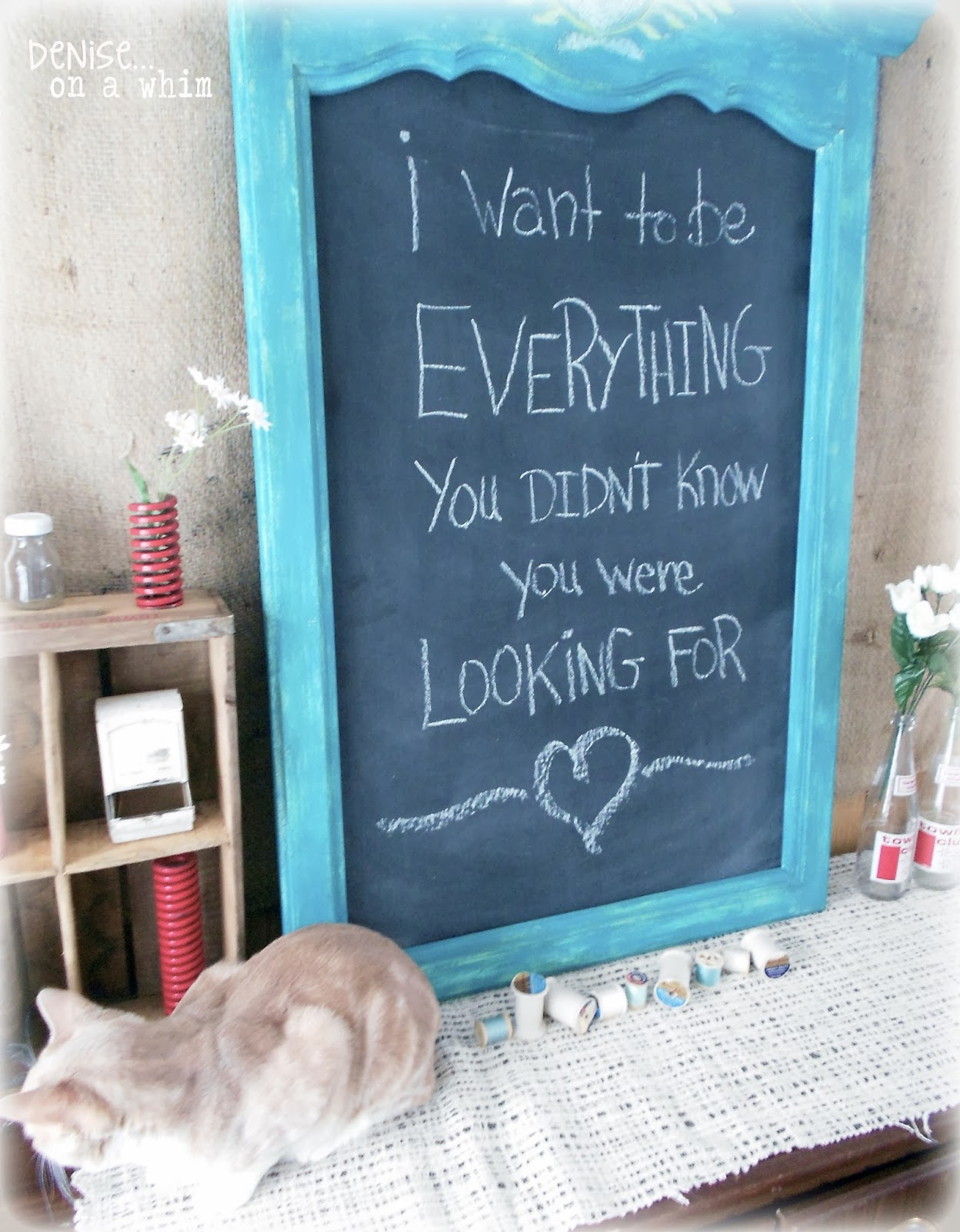 From Mirror to Chalkboard with a Few Colors of Paint via http://deniseonawhim.blogspot.com