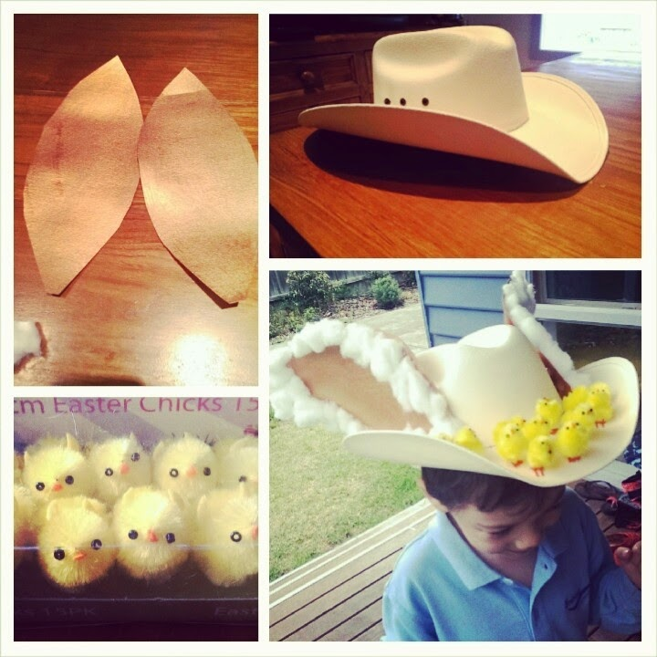 Recycled Fashion Cowboy Easter Bonnet
