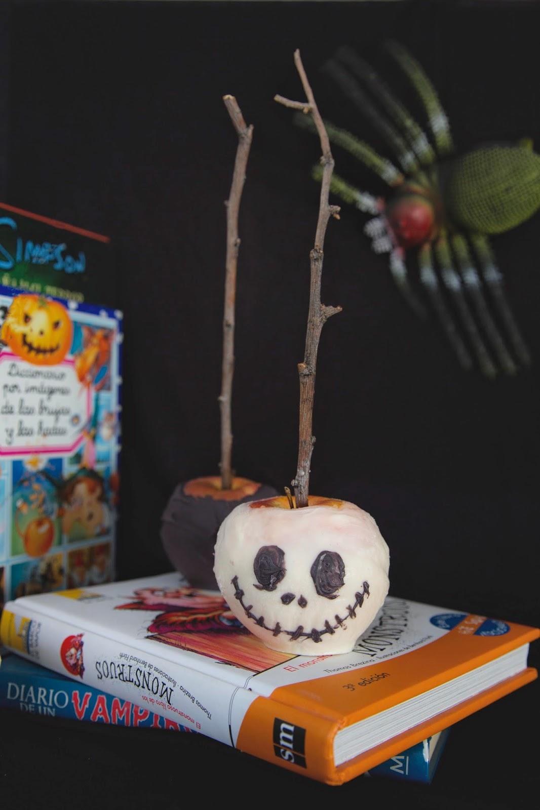 manzana para halloween