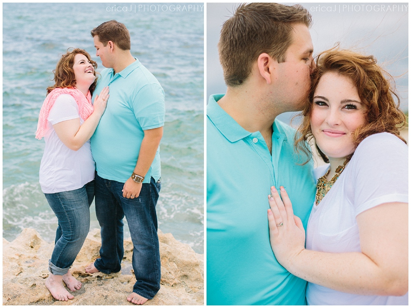blowing rocks preserve beach engagement photo