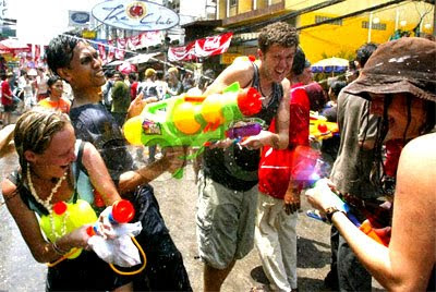 Top ten the Songkran festival on all famous roads call