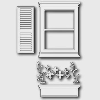 Poppystamps Die Madison Window Set Large die