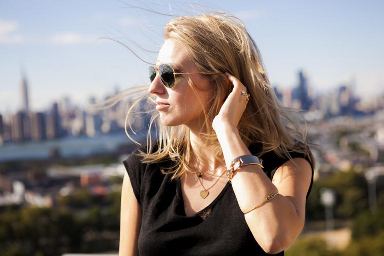 Fashion Over Reason Gold Jewelry Manhattan NYC Skyline View