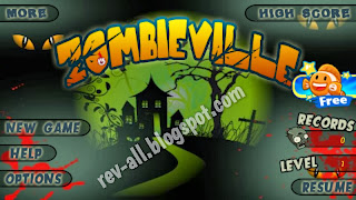 menu/ tampilan utama permainan zombie village by rev-all.blogspot.com