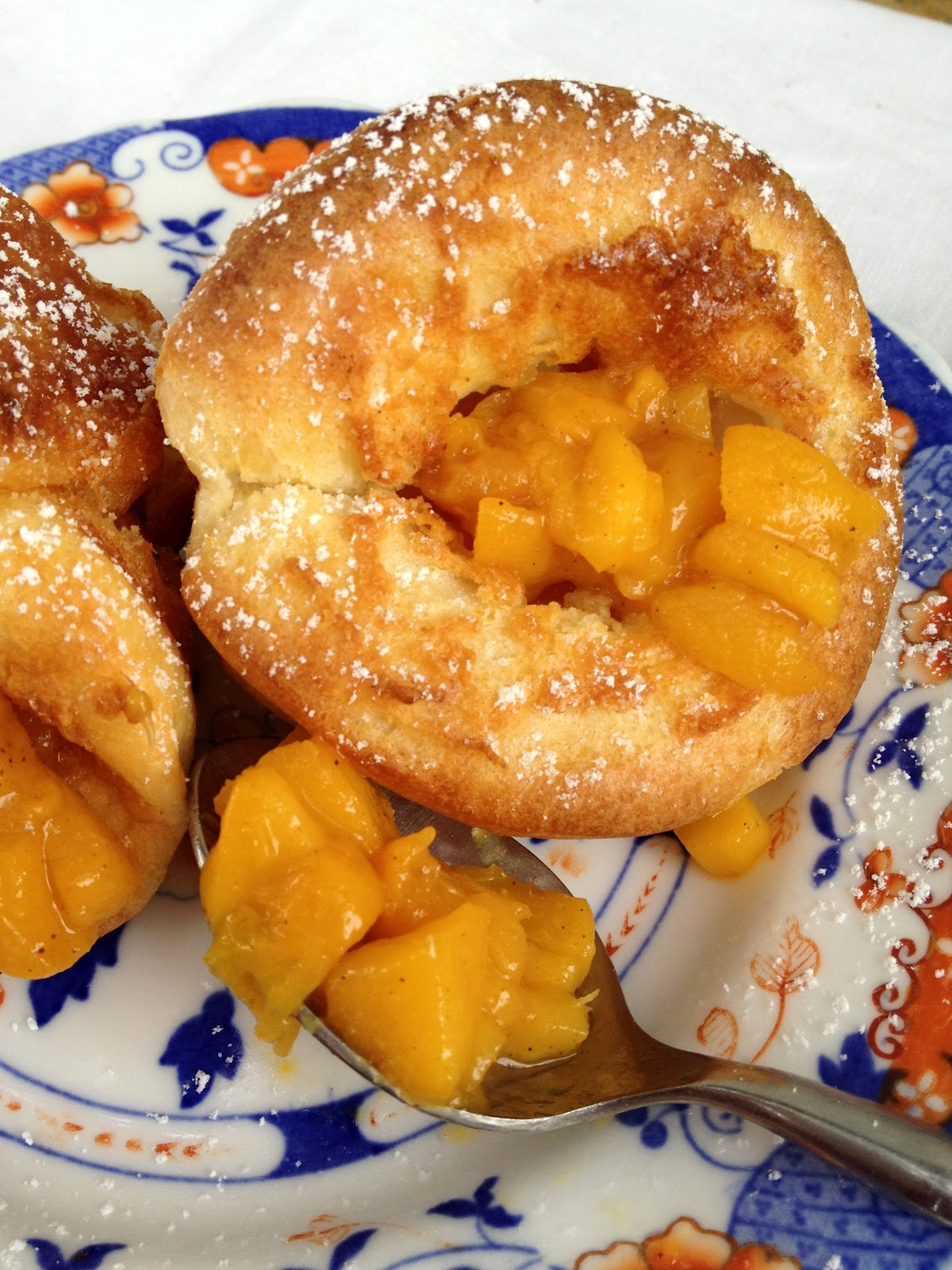 ... Dutch Puff Pancakes with Peach Compote Featuring NECTRESSE All-Natural