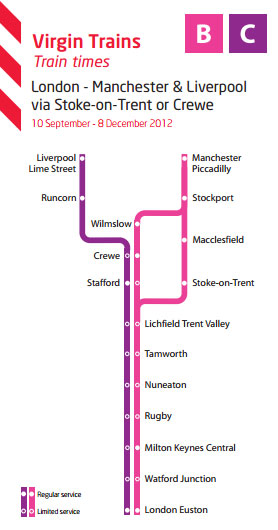 manchester virgin to times london train