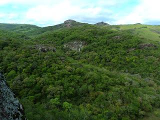 Paisagem Vista do Alto da Pedra do Segredo em Caçapava do Sul