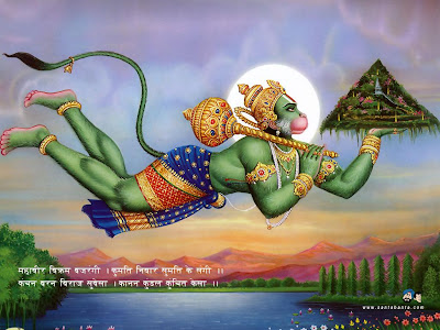 Hanuman wallpaper carrying sanjeevani