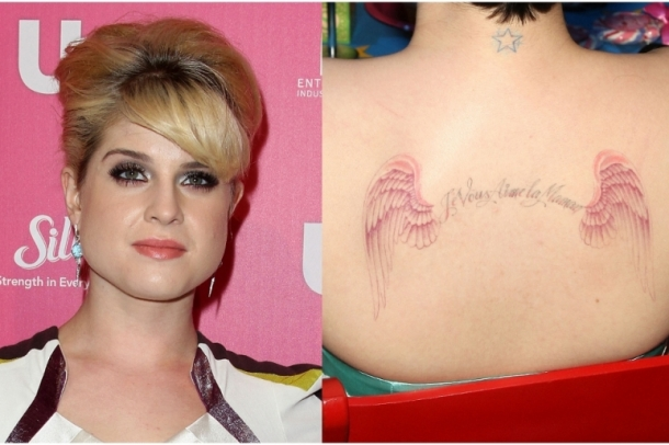 kelly osbourne tattoos. Kelly Osbourne Letter Tattoo