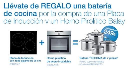 Bacomat promoci n balay regalo de una bater a de cocina - Cocinas de induccion balay ...