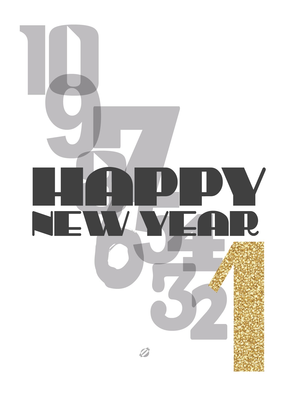 LostBumblebee ©2013 Happy New Year Free Printable