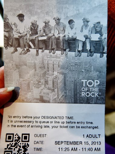 Rockefeller Top of the Rock tickets