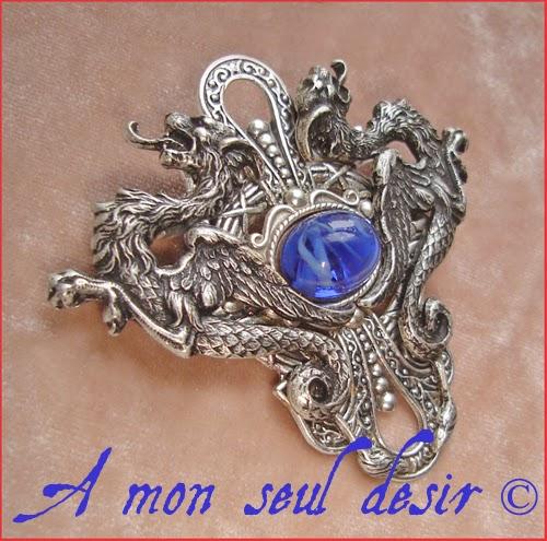 Broche médiévale dragon Daenerys Targaryen medieval renaissance brooch
