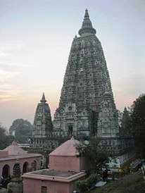 A picture of the Mahabodhi temple, Bodhgaya