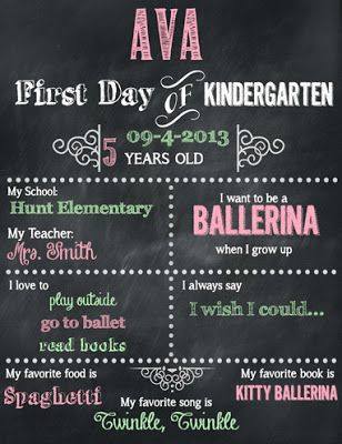 Geeky image inside first day of preschool sign free printable