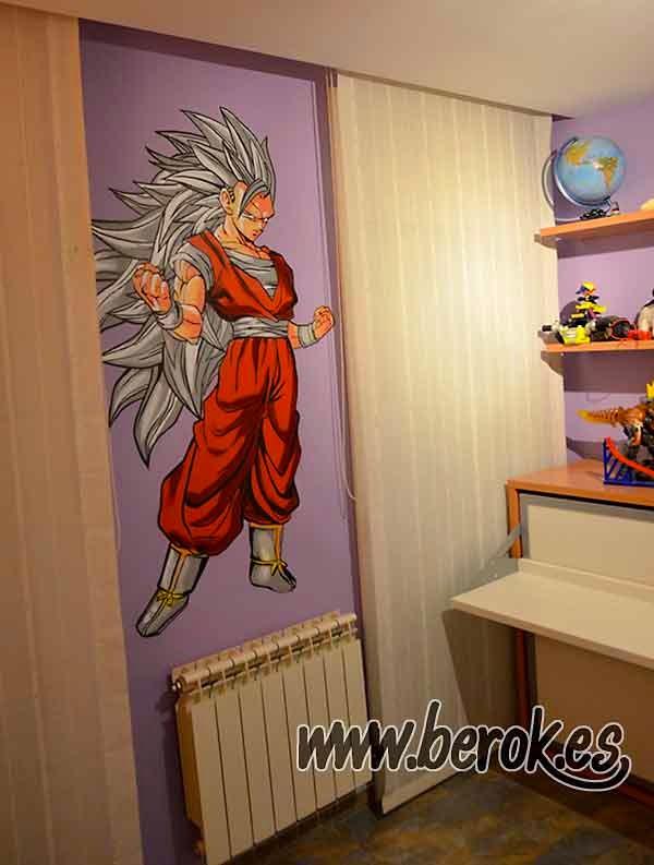 Berok graffiti mural profesional en barcelona febrero 2015 for Mural habitacion juvenil